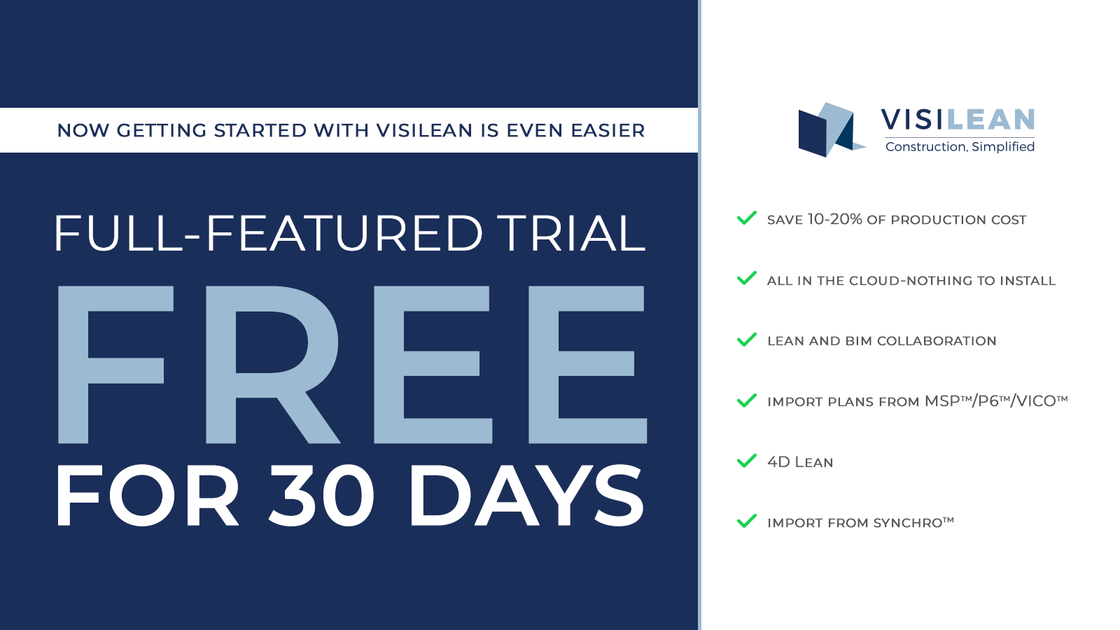 free for 30 days visilean