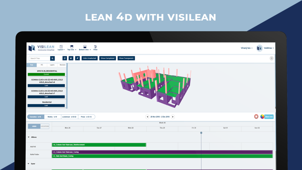 Lean 4D with visilean