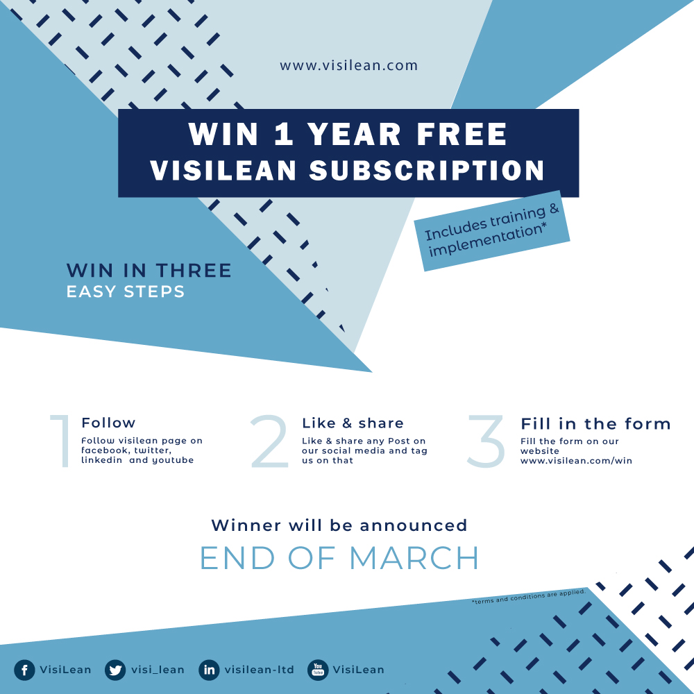 win 1 year free visilean subscription