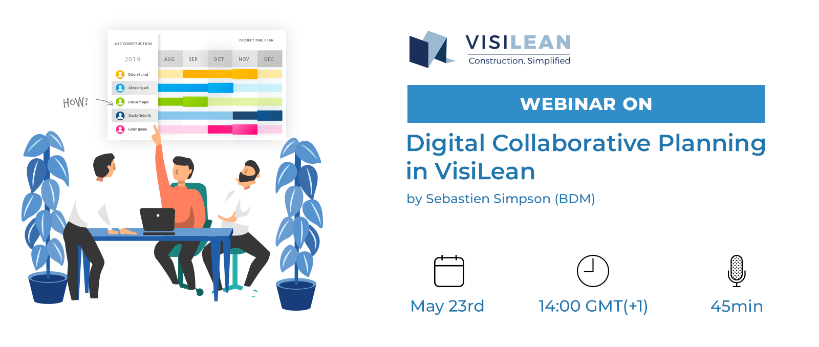 Webinar on Digital Collaborative Planning in VisiLean