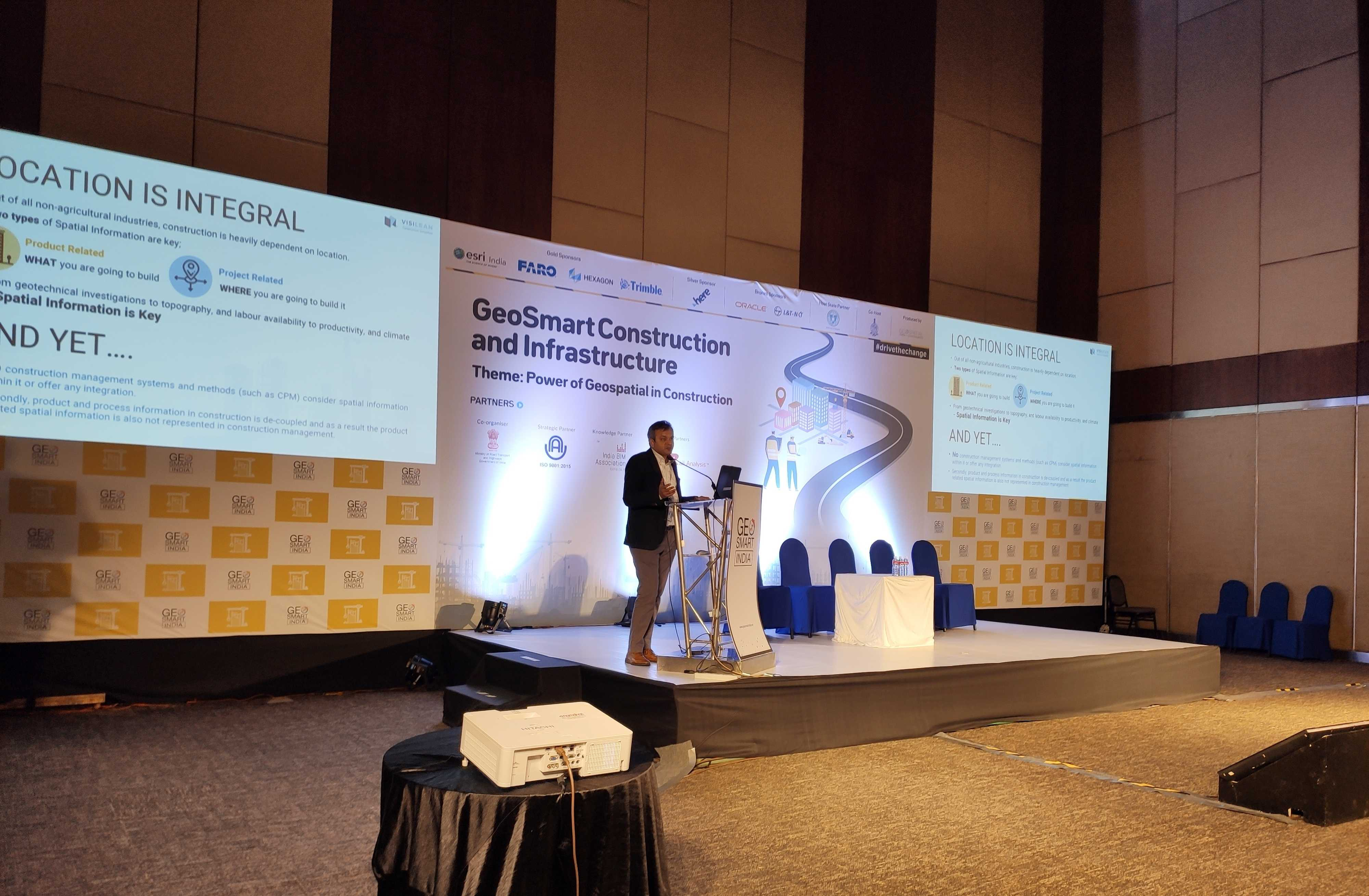 VisiLean CEO, Dr. Bhargav Dave at Geo smart construction and infrastructure